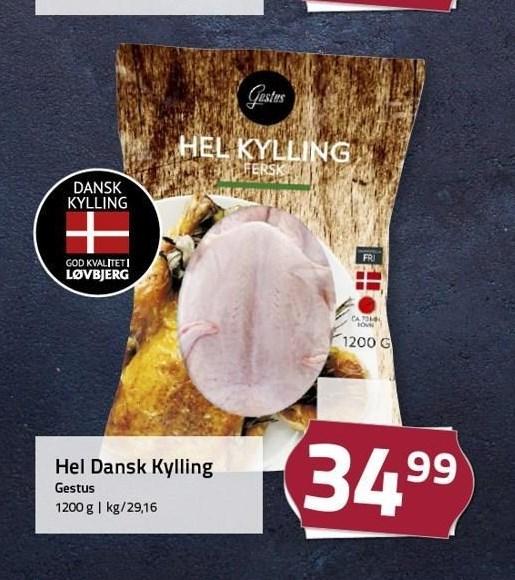 Hel dansk kylling