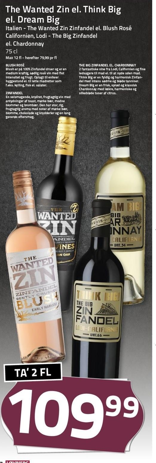 The Wanted Zin eller Think Big eller Dream Big 2 flasker