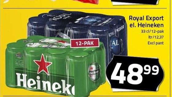Royal Export eller Heineken 12-pak