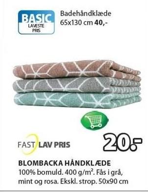 Blombacka håndklæde