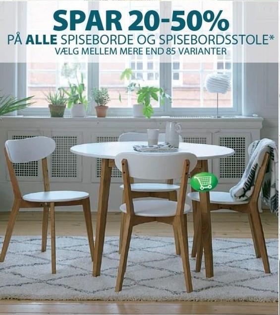 Spar 20-50% på ALLE spisebord og spisebordsstole