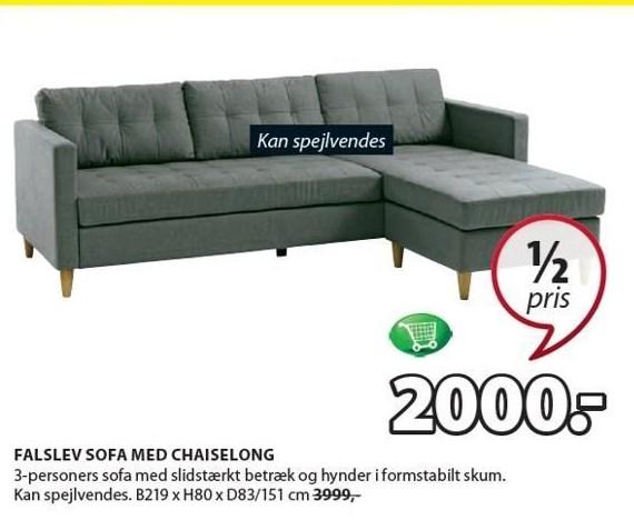 Falslev sofa m. chaiselong