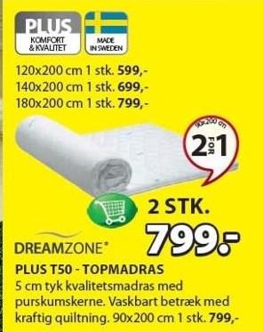 Plus T50 topmadras - 2 stk