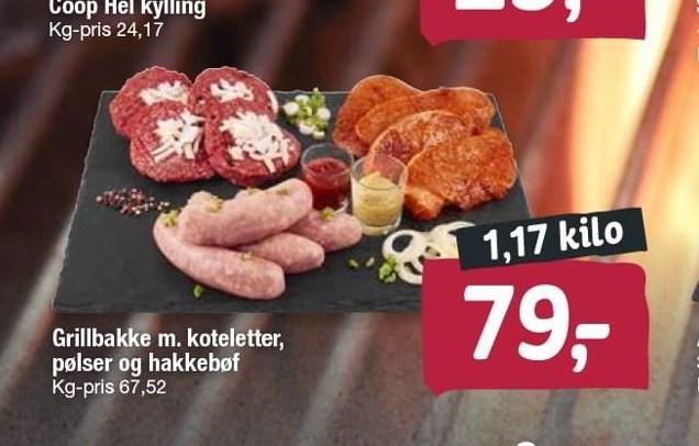 Grillbakke m. koteletter