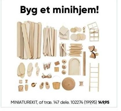 Miniaturekit af træ