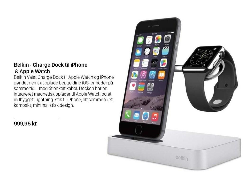 Belkin - Charge Dock til iPhone & Apple Watch