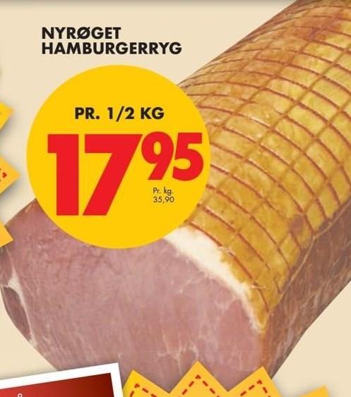 Nyrøget hambrugerryg pr ½ kg