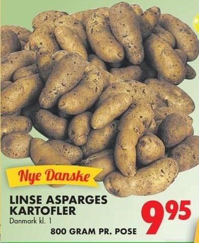 Linse asparges kartofler