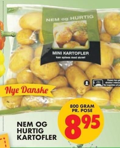 Nem og hurtigt kartofler