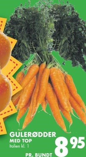 Gulerødder med top