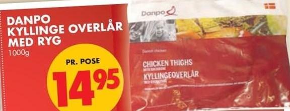 Danpo kyllinge overlår med ryg 1000 g