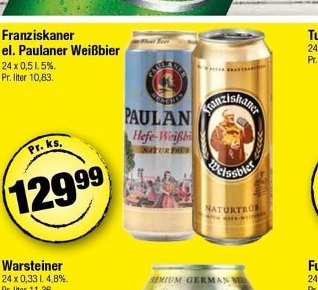 Franziskaner el. Paulaner Wissbier