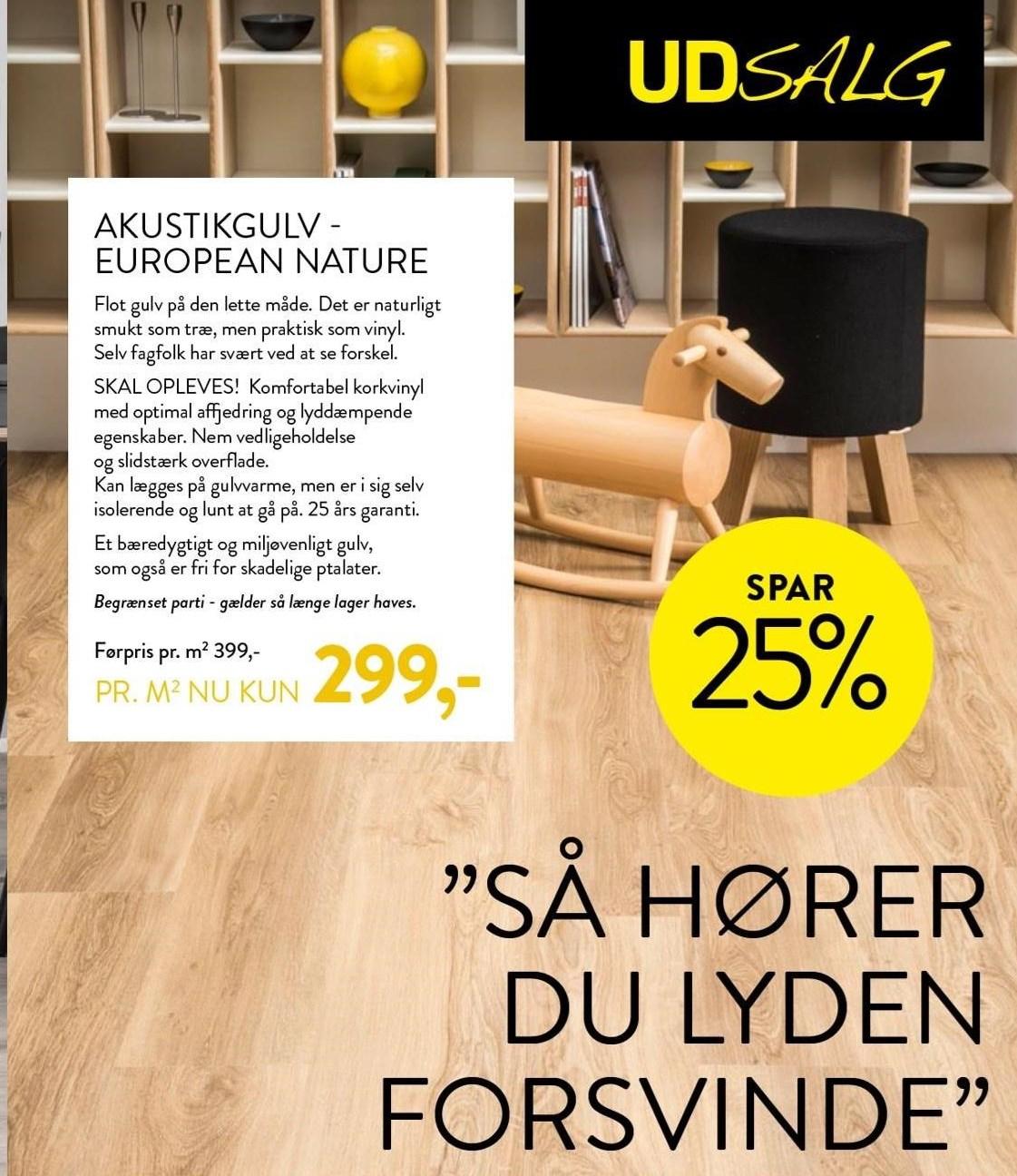 Akustikgulv - European nature