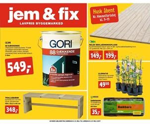 jem & fix: Gyldig t.o.m lør 27/5