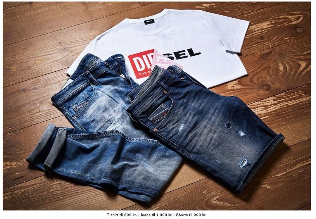 T-shirt, Jeans el. Shorts