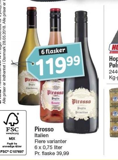 Pirosso 6 flasker