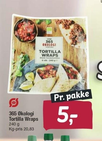 365 økologi tortilla wraps