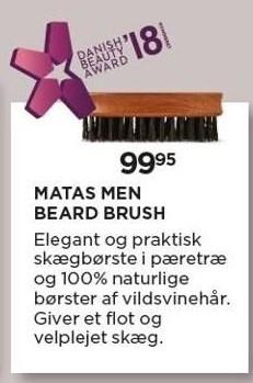 Matas Men Beard Brush - Køb 2 og spar 30%