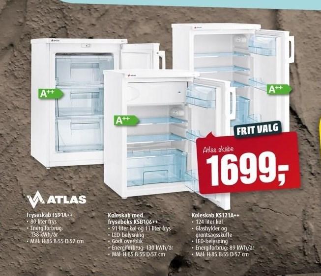 Atlas fryseskab eller køleskab