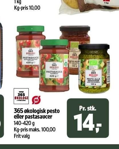 Økologisk pesto eller pastasaucer