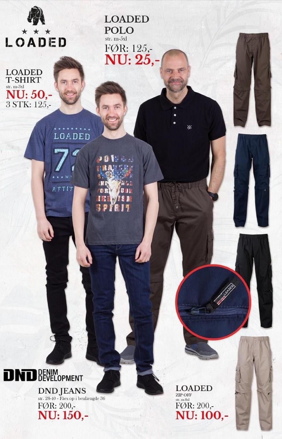 Jeans, bukser el. t-shirt