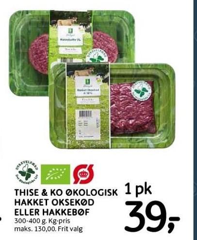 Thise & Ko økologisk hakket oksekød el. hakkebøf
