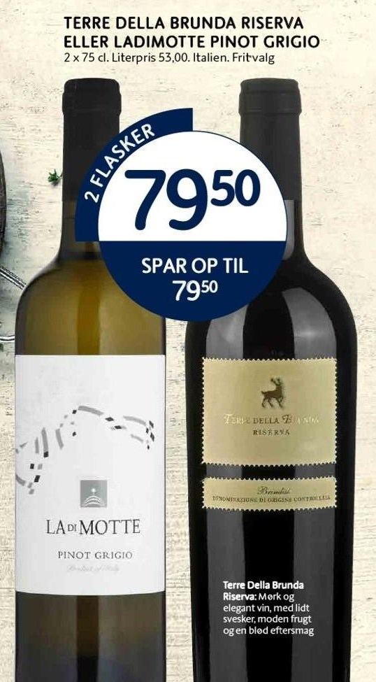 Terre Della Brunda Riserva el. Ladimotte Pinot Grigio 2 fl.