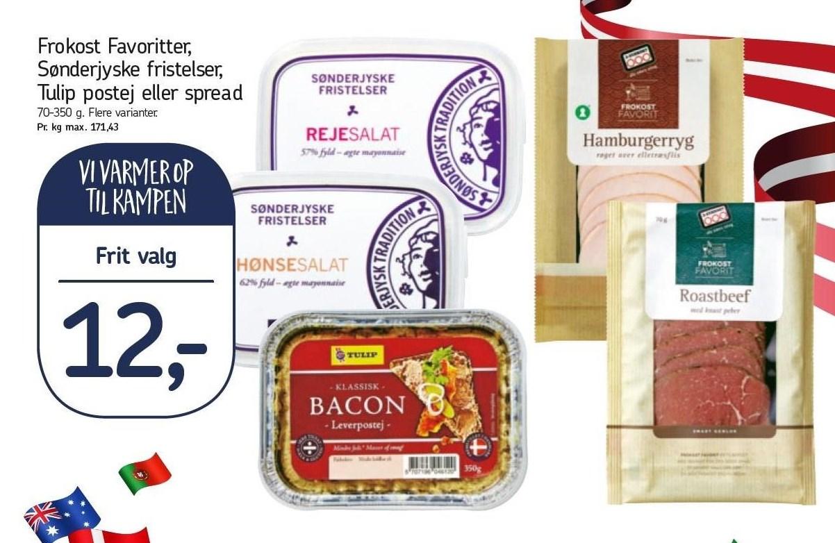 Frokost Favoritter, Sønderjyske fristelser, Tulip postej el. spread
