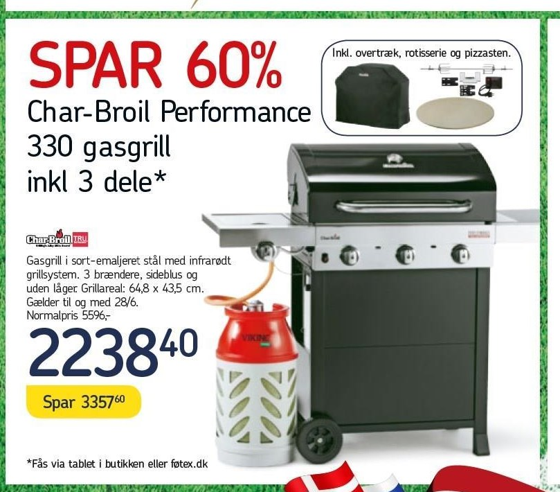 Char-Broil Performance 330 gasgrill inkl. 3 dele