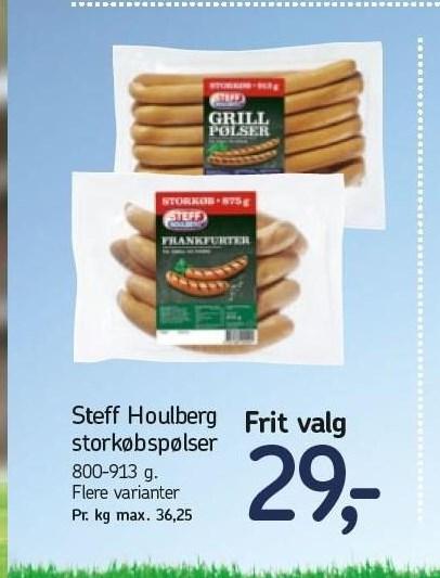 Steff Houlberg storkøbspølser