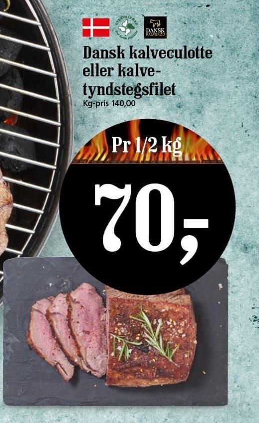 Dansk kalveculotte el. kalvetyndstegsfilet