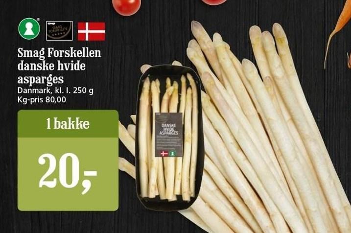 Smag Forskellen danske hvide asparges