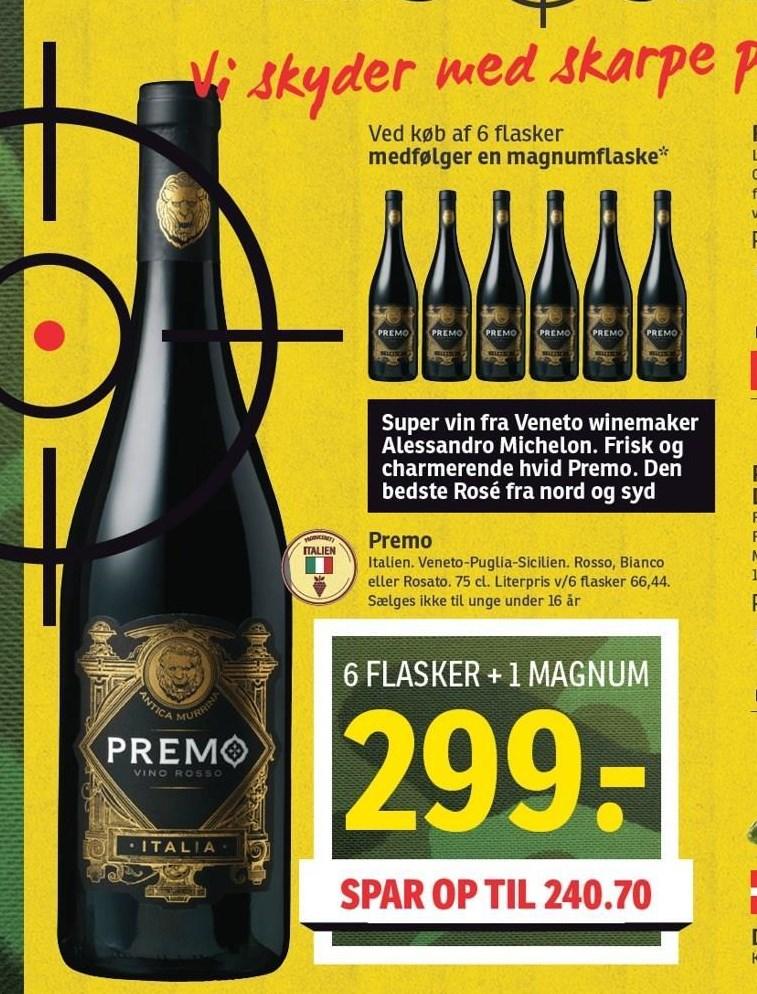 Premo 6 flasker + 1 Magnum
