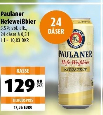 Paulaner Hefeweissbier 24 ds