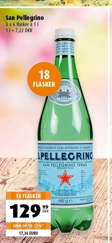 San Pellegrino 18 flasker