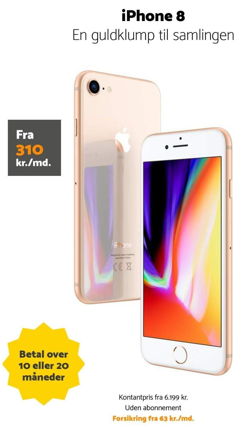 iPhone 8 kr./md.