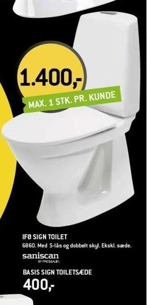 Ifø sign toilet