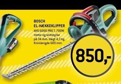 Bosch el-hækkeklipper