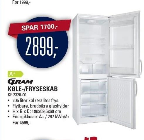 Gram Køle-/fryseskab