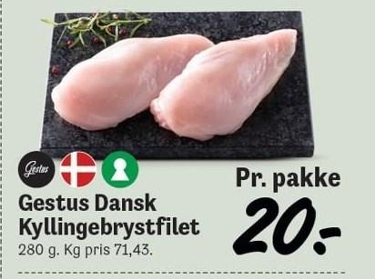 Gestus Dansk Kyllingebrystfilet 280g