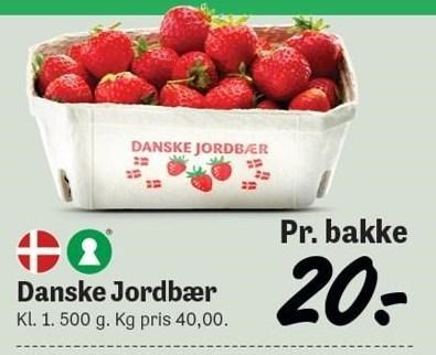 Danske Jordbær 500g
