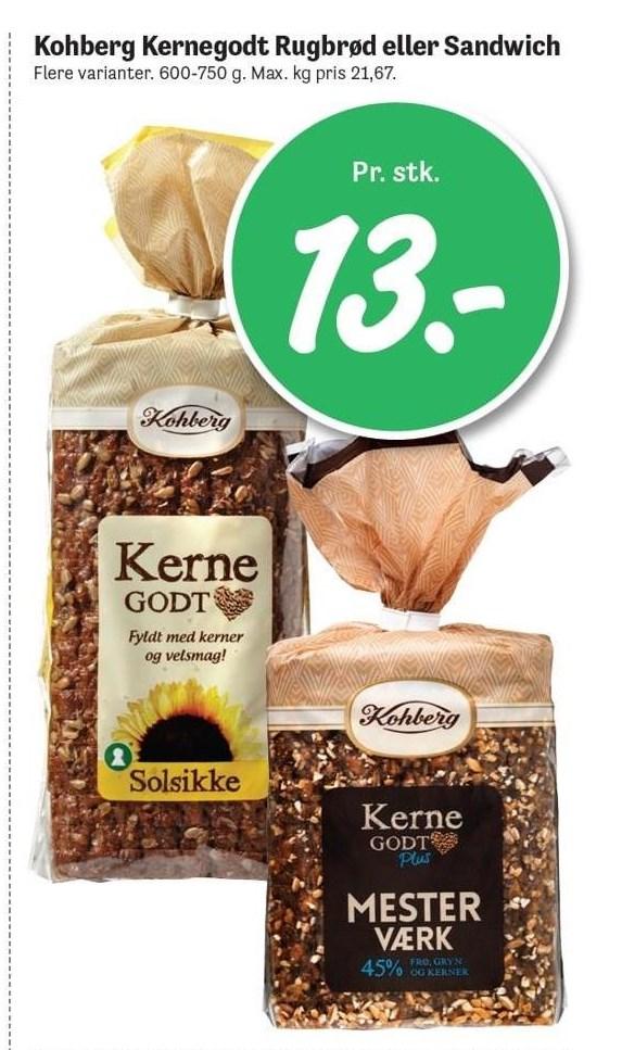Kohberg Kernegodt Rugbrød eller Sandwich