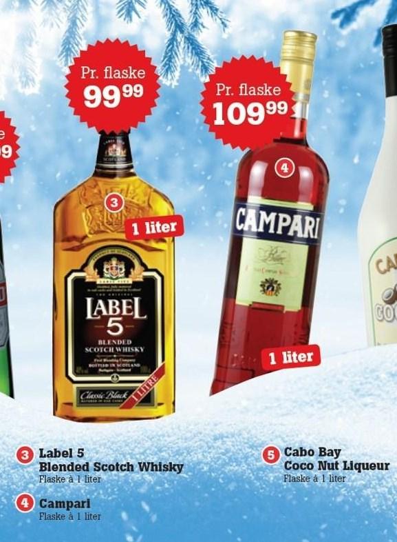 Label 5 Blended Scotch Whisky el. Campari