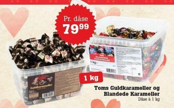 Toms Guldkarameller og Blandede Karameller 1 kg