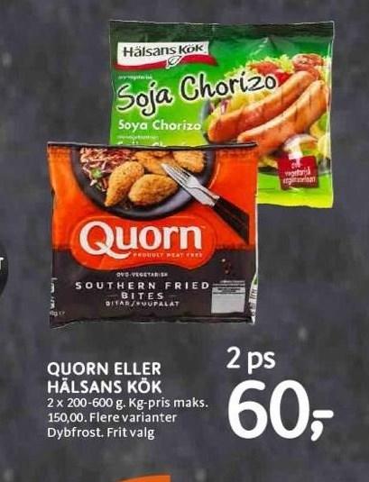 Quorn eller Hälsans kök