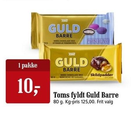 Toms fyldt Guld Barre