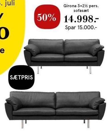 Girona 3+2½ pers. sofasæt