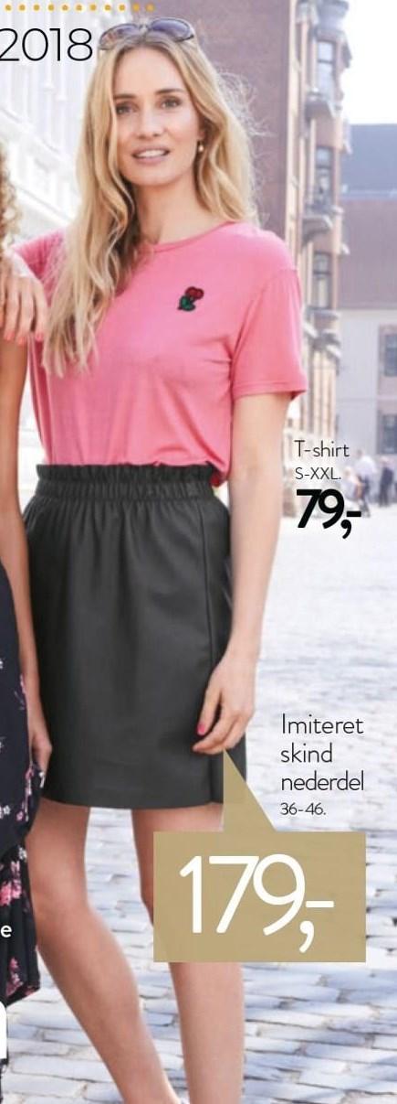 T-shirt el. nederdel