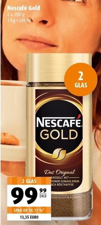 Nescafé gold 2 glas