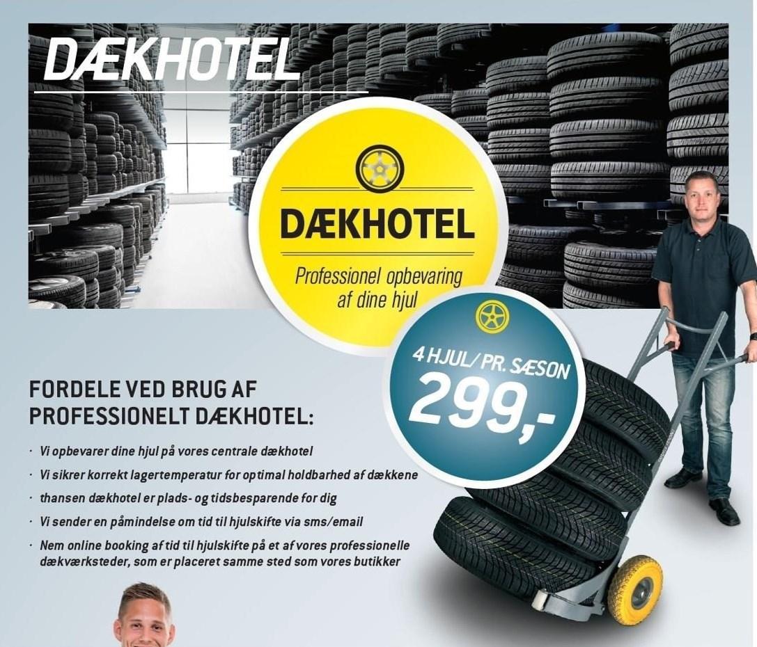 Dækhotel - 4 hjul/ pr. sæson